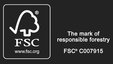 The mark of responsible forestry logo